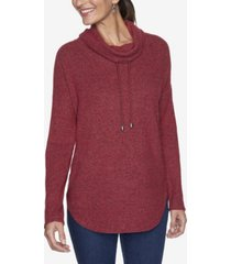 ruby rd. women's plus size cowl neck knit pullover