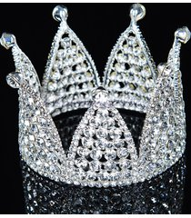 corona piena della principessa della parte superiore di lusso del rhinestone della principessa della corona