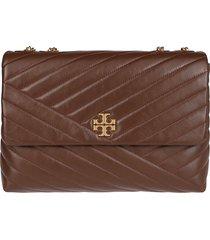 tory burch brown leather kira crossbody bag