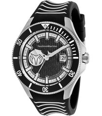 reloj technomarine tm-118011 negro silicona