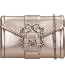 elie saab clutch in copper leather