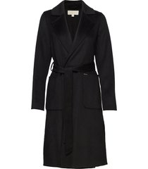 db wool belted coat wollen jas lange jas zwart michael kors