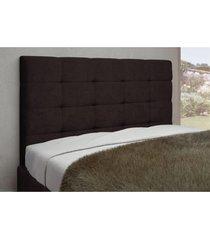 cabeceira bella para cama casal box 160 cm café suede liso - js móveis