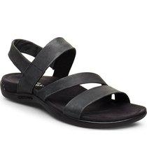 district kanoya strap shoes summer shoes flat sandals svart merrell
