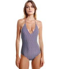 body rosa chá basic wes beachwear estampado feminino (wes, gg)