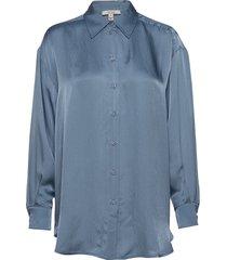 gina overhemd met lange mouwen blauw dagmar