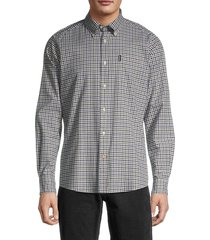 barbour men's tailored-fit gingham shirt - forest - size xxl