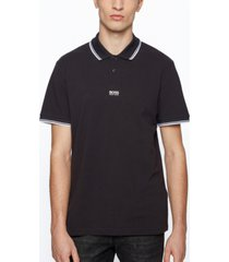 boss men's cotton-pique regular-fit polo