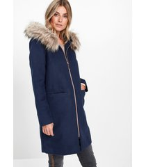 korte coat met fake fur