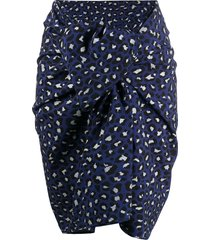 zadig & voltaire all-over print skirt - blue