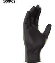 guantes de ácidos y álcalis negro tatuaje protector antiestático de go