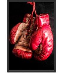 quadro oppen house 60x40cm boxe esporte treino saco de pancada  moldura preta s/vidro