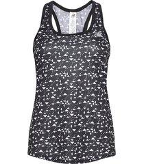 printed accelerate tank v2 t-shirts & tops sleeveless svart new balance
