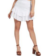 guess tatiana eyelet mini skirt