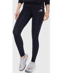 leggings azul oscuro-blanco new balance athletics core