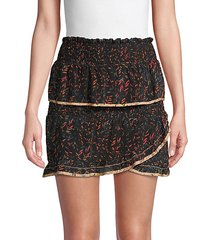 jully tiered ruffle mini skirt