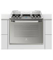 fogão 5 bocas de embutir electrolux prata automático com mesa de vidro e grill (76exv)
