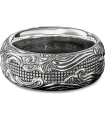 'waves' silver ring