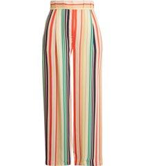 women's halogen x atlantic-pacific pleat detail print pants, size 18 - blue
