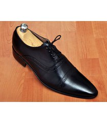 handmade men's oxford black dress leather shoes, mens black laceup leather shoes