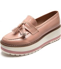 zapato mocasin antif rosado julieth