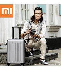 xiaomi 90fun 20 pulgadas pc maleta llevar equipaje de vacaciones tsa lock viajes de negocios - gris