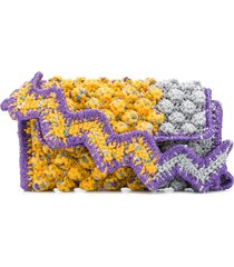 m missoni chunky knit clutch - yellow