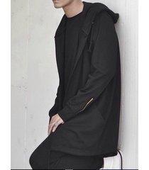 capa de manga larga de estilo callejero de otoño para hombre capucha