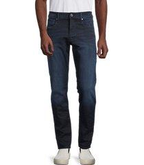 g-star raw men's 3301 slander straight jeans - dark aged - size 32 36