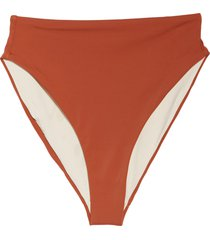 women's chelsea28 easy retro high waist swim bottoms, size xx-large - brown