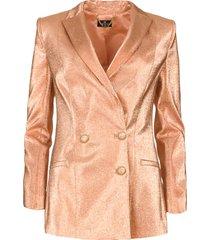 metallic blazer sparkle  roze