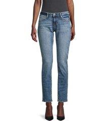 true religion women's stella low-rise cigarette jeans - medium blue - size 24 (0)