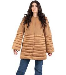 camel coat with padding