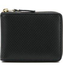 comme des garçons wallet diamond effect zip around wallet - black