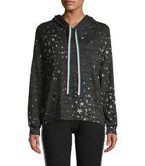 star-print long-sleeve hoodie