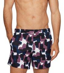 boss men's camouflage-print swim shorts
