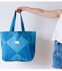 torba xxl niebieskie romby