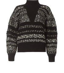 gebreide trui alpaco  zwart