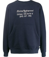 u.p.w.w. high visual sweatshirt - blue