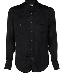 black viscose shirt