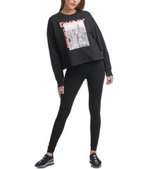 dkny sport women's city skyline graphic sweatshirt