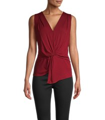 bailey 44 women's amber gathered top - red - size xs