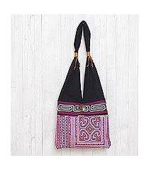 cotton shoulder bag, 'thai brilliance' (thailand)