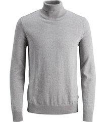 trui jack & jones 12180604 jwhemil knit roll neck light grey melange