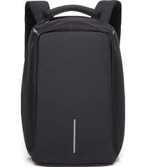 mochila de paño de oxford mochila ocasional de la-negro