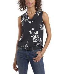 women's cowl neck floral whisps blouse