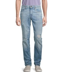 prps men's bluffton distressed tapered skinny jeans - light indigo - size 32
