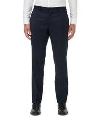 armani exchange men's modern-fit navy solid suit separate pants