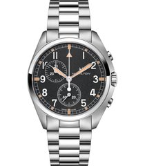 hamilton khaki aviation pilot chronograph bracelet watch, 41mm