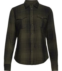 regular western shir overhemd met lange mouwen groen lee jeans